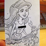 Disney Princess Gone Wild (Little Mermaid starts wearing a tee shirt instead of shells)