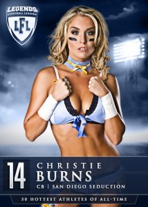 Christie Burns of Legends Football League