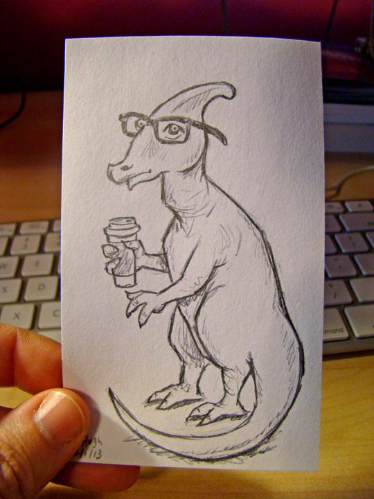 Hipster Hadrosaurus McIllustrator